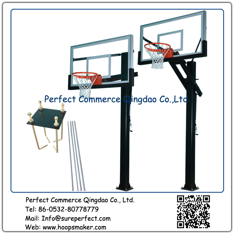 Wholesale outdoor adjustable in ground easy to assemble basketball stand with 54